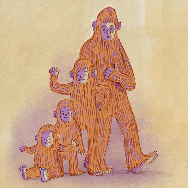 Grow a Sasquatch, ©2015 Nancy Lemon, illustrator