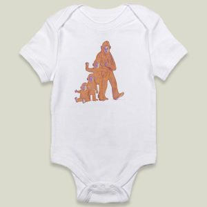 Grow a Sasquatch onesie, by Nancy Lemon Studio