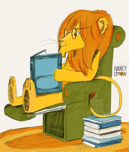 An illustration for a reading room by the Lions Club - Nancy Lemon ©2015