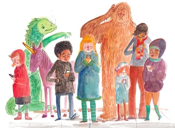 Look up People, illustration by Nancy Lemon Studio ©2015
