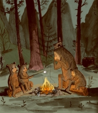 Vacationing Bears ©2015 Nancy Lemon Studio