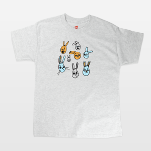 bunnies, kid's t-shirt ©2015 Nancy Lemon Studio