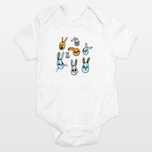 bunnies-bonanza-onesie ©2015 Nancy Lemon Studio