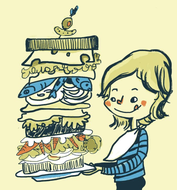 I'm so hungry I could eat a mega sandwich!