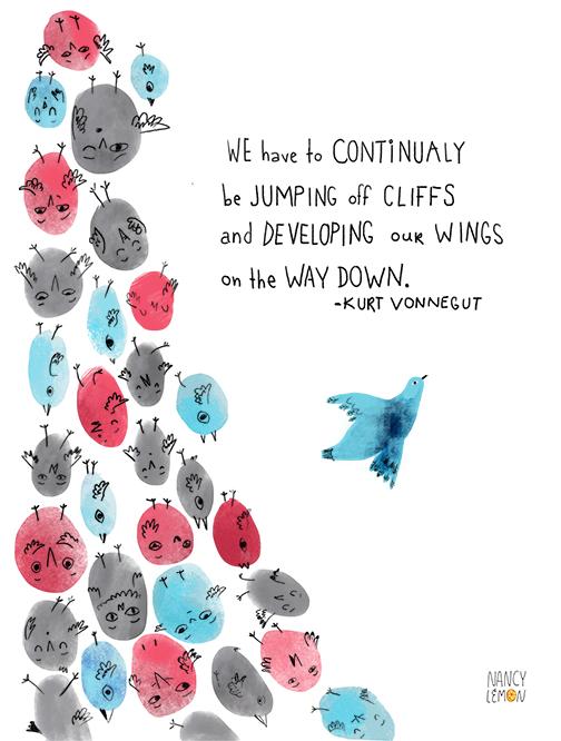 Kurt Vonnegut illustrated quote Nancy Lemon © 2016
